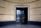 Detail of entrance to lobby of 888 Grand Concourse, at 161st Street, designed by Emry Roth, which is currently a rental building
